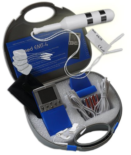 EMS / Tens 2-Kanal Reizstromgerät EMT-4 plus Vaginalsonde PR-03 + Klemmen. Medizinprodukt für wirksame Schmerz- und Muskelbehandlung