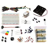16Hertz Electronics Project Starter Kit w/ Breadboard, Jumper Wires, LED, Resistors, Motor for Arduino & Raspberry Pi