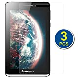 BIRUGEAR 3-Pack Premium HD Crystal Clear LCD Screen Protector for Lenovo ideaTab S5000 - 7'' HD Display Android Tablet