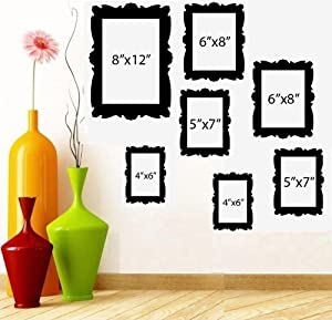 """FAMILY TREE PICTURE FRAMES ~ WALL DECAL (1) 8""""X 10"""" (2) 5"""" X 7"""" (2) 6""""X 8"""" (2) 4""""X 6"""""""