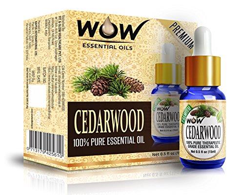 WOW 100% Pure Cedarwood Essential Oil - 15ml / 0.5 oz - Therapeutic Grade