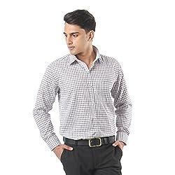 ZIDO Brown Blended Men's Checks Shirts PCFLX1305_Brown_50