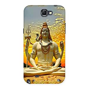 Gorgeous Shiva Samadhi Print Back Case Cover for Galaxy Note 2