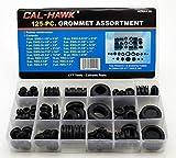 Rubber Grommet Assortment Set Electrical Gasket 125 pc