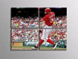 4HC0893 Bryce Harper Baseball Washington Nationals Sport 32x24 SECTIONAL FRAMED CANVAS Print at Amazon.com