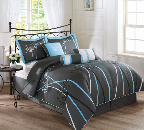 Gray Bedding Sets King 177651 front