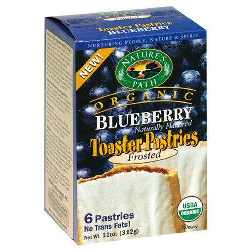 Buy Nature's Path Organic Toaster Pastries, Blueberry Frosted, 6-Count Boxes (Pack of 12) (Nature's Path, Health & Personal Care, Products, Food & Snacks, Breakfast Foods, Toaster Pastries)