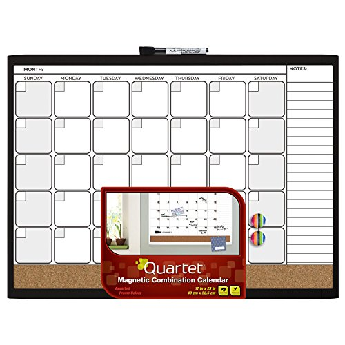 Office Calendar Board : Quartet magnetic combination calendar board