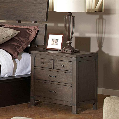 3-Drawer Nightstand in Warm Cocoa Finish kitcyo588750pac103637 value kit crayola pip squeaks telescoping marker tower cyo588750 and pacon riverside construction paper pac103637