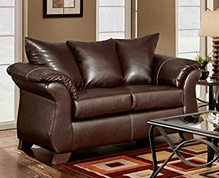 Chelsea Home Furniture Armstrong Loveseat, Taos Mahogany
