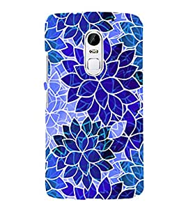 PrintVisa Modern Art Leaf Pattern 3D Hard Polycarbonate Designer Back Case Cover for LENOVO Vibe X3