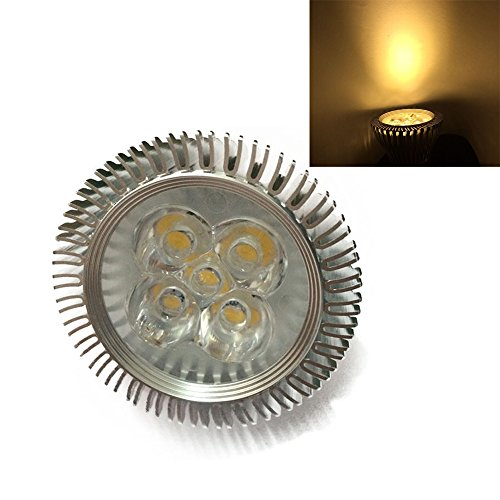 Ljy E27 5W Warm White 3000K 420-460Lm Led Spotlight Bulb Ac 110-240V, Non-Dimmable