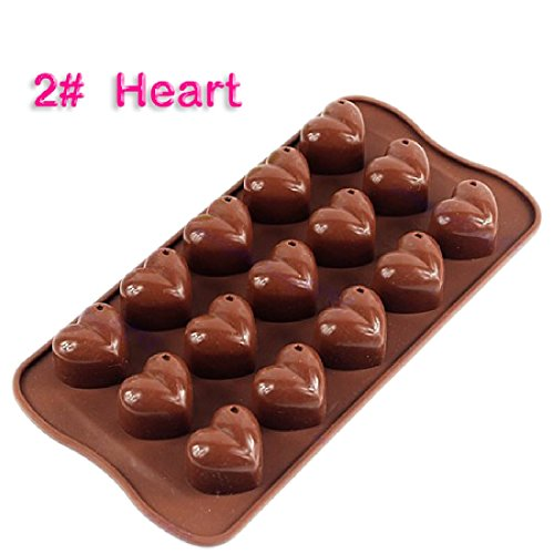 Jonkey Silicone Xmas Chocolate Cookie Cake Jelly Muffin Baking Bakeware Tool Mold Mould Heart Shape
