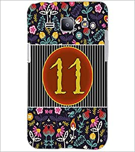 PrintDhaba Numerology Number 11 D-3098 Back Case Cover for SAMSUNG GALAXY J1 (Multi-Coloured)