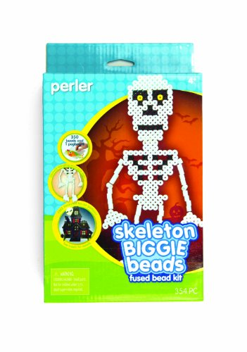 Perler Fused Beads Kit, Skeleton Biggie Bead