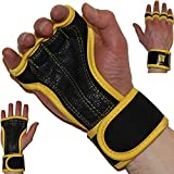 Premium Cross Training Gloves with Wrist Support ✮ Strong Grip ✮ Ventilated & Anti-Sweat ✮ Padding to Avoid Calluses ✮ Fitness, Weightlifting, WOD, Crossfit, Gym Workout, Powerlifting ✮For Men & Women