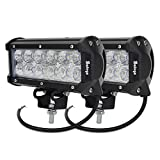 Safego 36W CREE製 LED 作業灯 / ワークライト 高輝度 広角タイプ 12連LED 車外灯 農業機械 ホワイト 6000K 12V-24V対応 C36W-FL-2個