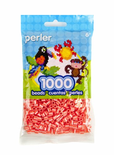 Perler Beads Pearl Stripe Beads, Hot Coral - 1
