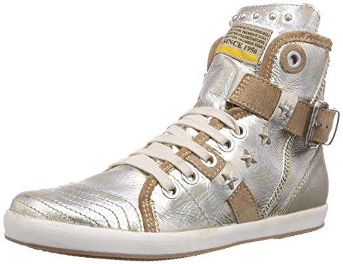 Manas CRISTINA, Sneaker alta donna, Oro (Gold (PLATINO+PLATINO+MARRONE)), 35
