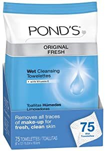 Pond's Original Fresh Wet Cleansing Towelettes, 75 Count