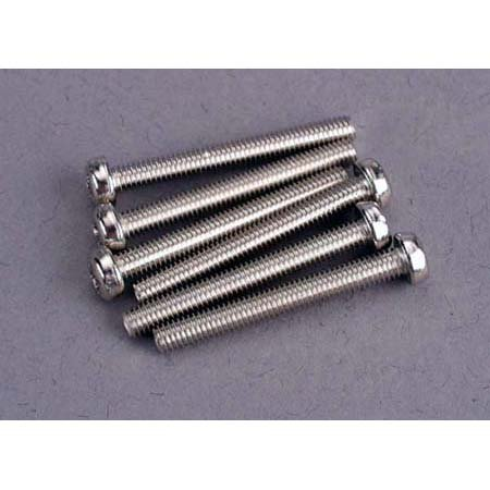 Traxxas 2569 Screws 3 X 25mm Roundhead (6)