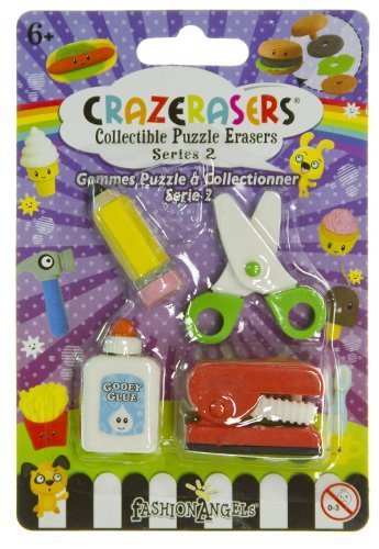 Stationery Maniac (4 Mini-Erasers) - CrazErasers: Collectible Erasers Series #2 - 1