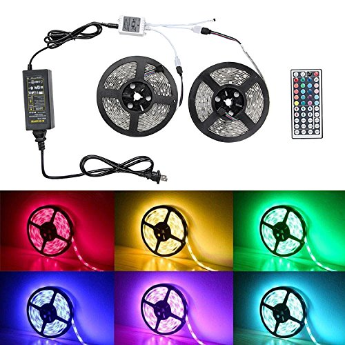 LED Strip Lights- Badalink Waterproof 10M Band Light Decoration Lamp with Color 300 leds RGB with 44 Keys Wireless Remote Controller and Plug-in Power Supply for Car,Camper,Kitchen Outdoor&Indoor (Carbon Steel Pendant compare prices)