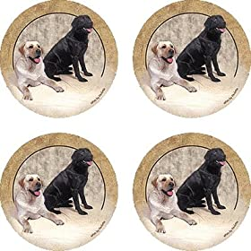 Set of Four Labrador Retriever Ambiance Coasters - Style vpa1