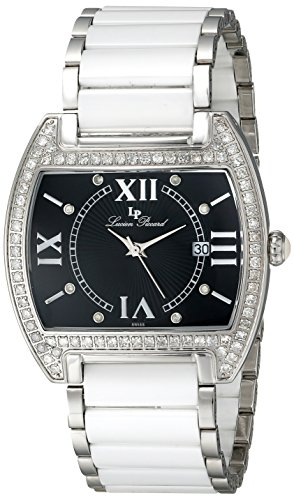 Lucien Piccard Women's 28004WH Ballerina Diamond Accented White Ceramic and Stainless Steel Watch