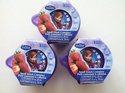 Three Sets of Disney's Frozen Small Snack Container-each Set Contains 3 Containers and Three Lids - 1