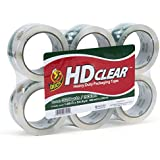 Duck Brand HD Packaging Tape, 1.88 inch x 54.6 Yard, Crystal Clear, 6 Rolls (441962)