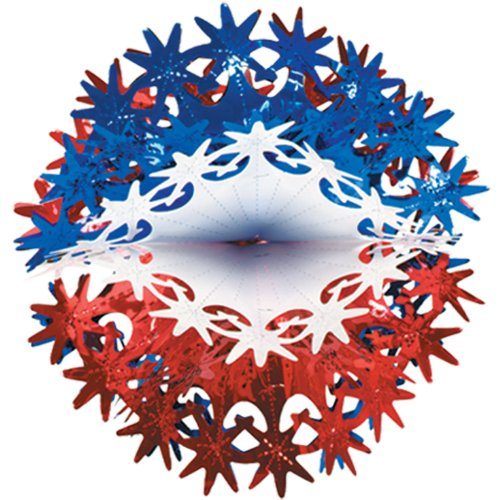 Star Ball (red, white, blue) Party Accessory  (1 count) (1/Pkg)