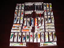 Lot of 64 New in the Box Bass Trout Redfish Musky Crankbait Fishing Lures with Spoons