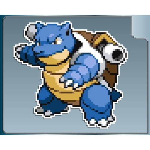 Amazon.com: BLASTOISE Sprite from Pokemon vinyl decal sticker