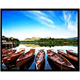 Projector Screens LOPEZ 100 Inch 4 3 Matt White Projector Screen Projection Home Theater Cinema