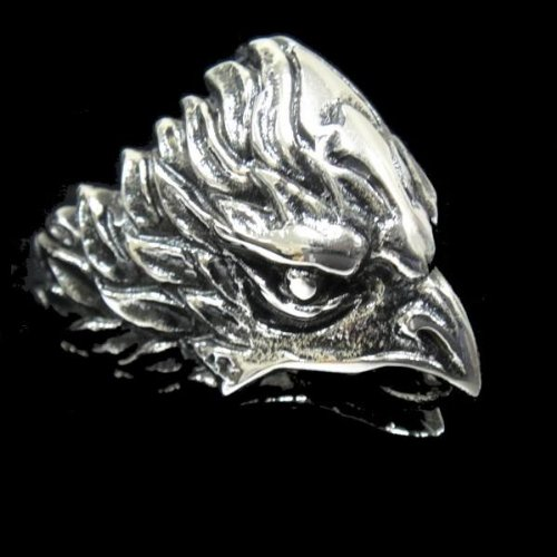 Men 316L Stainless Steel Men's America Eagle Ring for Harley Rider Motor Biker TR-73 by Priority Mail
