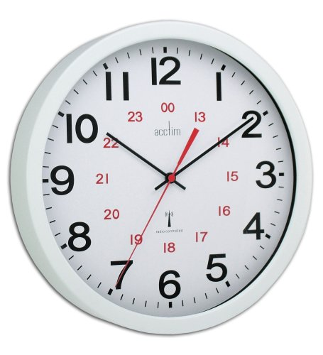 'controller' Radio Controlled Wall Clock 8534201 By Acctim
