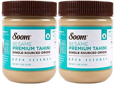 Soom Foods Pure Ground Sesame Tahini 11oz (2 Pack) by Soom Foods