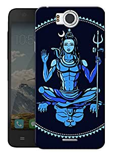 "Shiva The Almighty Printed Designer Mobile Back Cover For ""Google Infocus M530"" By Humor Gang (3D, Matte Finish, Premium Quality, Protective Snap On Slim Hard Phone Case, Multi Color)"