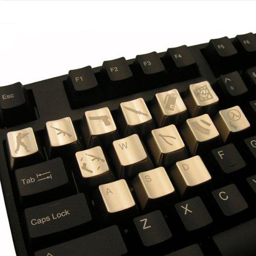 Mkc Wasd + 10 Cs Keys Kirsite Keycaps For Cherry Mx Keyboard front-339945