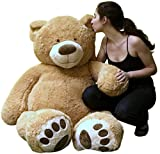 Big Plush Giant Teddy Bear Five Feet Tall Tan Color Soft Smiling Big Teddybear