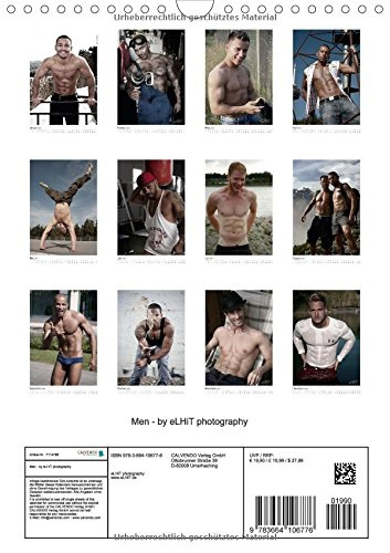Maenner / Men - by eLHiT photography (Wandkalender 2015 DIN A4 hoch): Monatskalender, Maenner - fit & erotisch, von eLHiT photography (Monatskalender, 14 Seiten)
