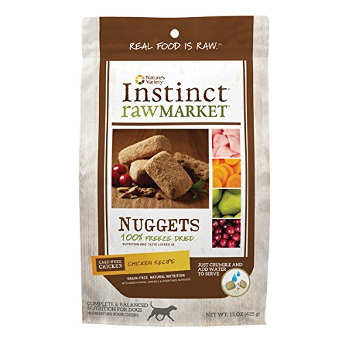 Nature's Variety Instinct Raw Market Grain Free Freeze Dried Chicken Recipe Nuggets for Dogs, 15 oz. Bag (Instinct Dehydrated Dog Food compare prices)