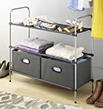 Whitmor-6779-4464-Closet-Organizer-Collection-3-Tier-Shelves-with-2-Collapsible-Drawers