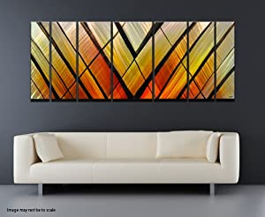 """Crossfire"" Modern Abstract Metal Wall Art Painting Sculpture Decor"