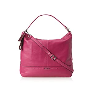 Coach 23293 Park Bright Magenta Pink Pebbled Leather Hobo Shoulder Bag