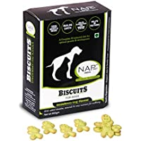 Mera Puppy Healthy Dog Biscuits Treats Snacks Veg Strawbery Flavour NAP PET 900 Grm