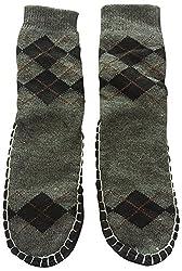 Graceway Adult Carpet Socks (Grey and Black)