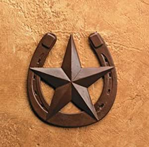 Rustic Horseshoe With Barn Star Wall Decor