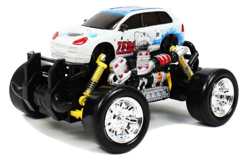 Extreme Monster Drifting Truck 4x4 High Quality (White) Porsche Cayenne 1:18 Electric RTR Rc Truck, Remote Control Monster Truck with Extra Grip Tires and Rechargeable Batteries